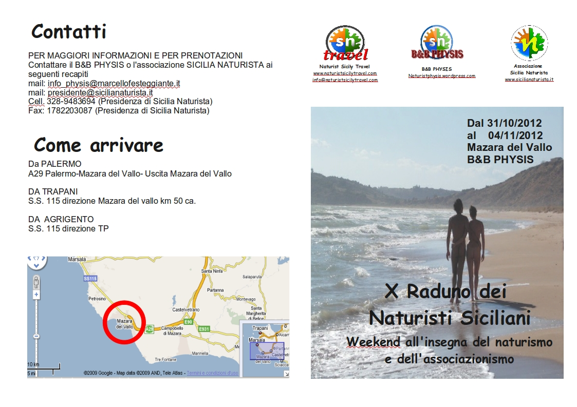 naturismo sicilia decimo raduno
